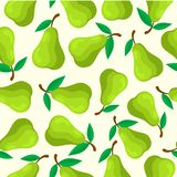 PEAR FRUIT SEAMLESS PATTERN stock illustration