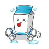 Milk death mascot vector cartoon illustration. This is an original character. milk death mascot vector cartoon illustration royalty free illustration