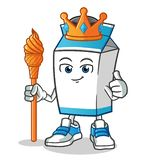Milk king mascot vector cartoon illustration vector illustration