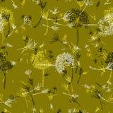 Mustard green dandelion kind of day. stock illustration