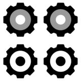 Gears icon isolated group in white background stock illustration