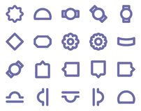 Material Design Isolated Vector Icon Pack that can easily modified or edit in any color any shape stock illustration