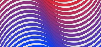 Seamless Blue and Red Gradient Twisted Stripes Texture in White Background. Abstract geometric image of blue and red gradient twisted stripes texture background vector illustration