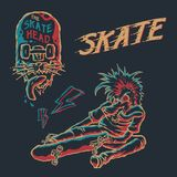 Punk skate element vector art royalty free illustration