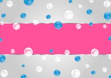 Abstract Floating Blue and White Bubbles in Gradated Gray Background vector illustration
