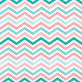 Seamless Interlacing Green, Pink and White Zigzag Stripes Pattern vector illustration