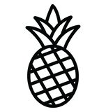 Basic RGB Ananas Isolated Vector icon which can easily modify or edit. Ananas Isolated Vector icon which can easily modify or edit stock illustration