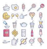 Food Isolated Vector icons set that can easily modify or edit  Food Isolated Vector icons set that can easily modify or edit royalty free illustration
