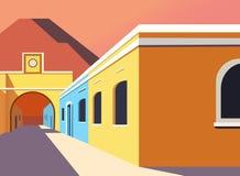 Creative modern building illustration design stock illustration