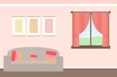 Simple beautiful room background illustration vector illustration