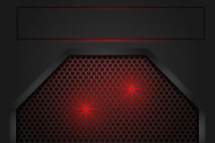 Red light in mesh shadow dark grey as background royalty free illustration
