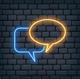 Speech bubble in neon effect vector illustration royalty free illustration