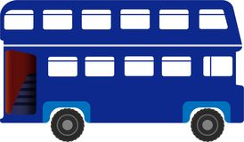 Double Decker Bus Illustration Logo Image Icon EPS file Availabe. Double Decker Bus Illustration Logo Image Icon for websites, presentations, banners, posters royalty free illustration