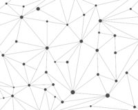 Abstract polygonal technology network background with connecting dots. Vector illustration royalty free illustration