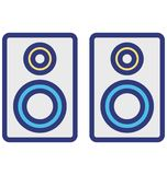Loudspeakers Isolated Vector Icon which can easily modify or edit royalty free illustration