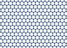 Seamless White Hexagons and Dark Blue Triangles Geometric Pattern Background royalty free illustration