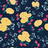 Yellow and red seamless pattern royalty free stock image