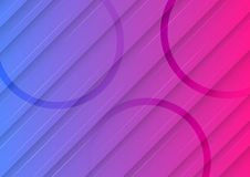 Blue and Pink Gradient Background with Diagonal Lines and Circles Geometric Pattern vector illustration