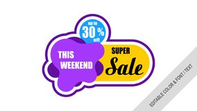 Sale banner template design Labels, Tags. royalty free illustration