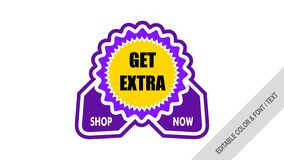 Sale banner template design tags sale royalty free illustration