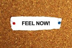 Feel now. Word on white stock photo