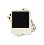 Polaroid Frames. Illustrated pile of polaroid with room to add text Stock Images
