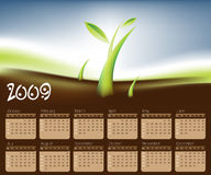 Basic RGB. 2009 Calendar concept, simple to edit it, all the dates trusted from the PC calendar Stock Illustration