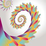 Abstract design of colorful swirl. stock illustration