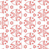 Calligraphy Seamless Pattern Background. The design making by drawing the word love with hearts in red for Valentines day Royalty Free Stock Photography