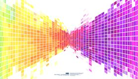 Colorful abstract background mosaic pixels. Abstract square pixel mosaic background. Vector illustration eps-10 stock illustration