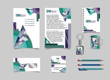 Drawing corporate identity design with figures. vector illustration