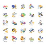 Basic RGB. Here is logistic delivery icons pack in isometric design consisting of visuals. These icons can be edited as per need. Grab it and use royalty free illustration