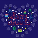 I love Christmas. Vector illustration with presents. royalty free illustration