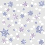 Pattern of snowfall in pastel color. vector illustration