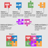 Set of puzzle for infographic Stock Photo