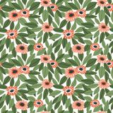 Trendy Seamless Floral Pattern in Vector hand drawn style. Ditsy repeated background royalty free stock images