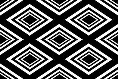 Seamless Polygonal Monochrome Diamond Pattern. Geometric Abstract Background. Suitable for textile, fabric, packaging and web desi Stock Images