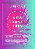 Basic RGB. Web banner or print poster for dance party, trans, techno, summer beats. great concept for club and party promotion and advertisement. vector vector illustration