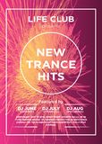 Basic RGB. Web banner or print poster for dance party, trans, techno, summer beats. great concept for club and party promotion and advertisement. vector royalty free illustration