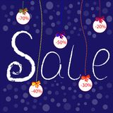 Winter Sale poster, banner or flyer. royalty free illustration