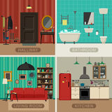 Basic rooms of apartment Stock Photos