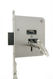 Basic sample door lock with key Stock Images