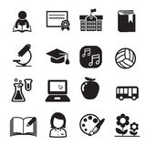 Basic School icon set Stock Photos