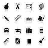 Basic - School Icons. 16 school and university icons set Royalty Free Stock Photography