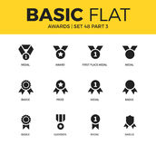 Basic set of Awards icons Royalty Free Stock Images