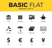 Basic set of Banking icons Royalty Free Stock Photos