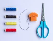 Basic sewing kit Royalty Free Stock Image
