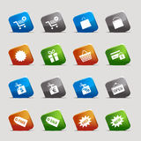 Basic - Shopping icons. 16 online shopping icons set vector illustration