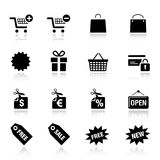 Basic - Shopping icons Stock Images
