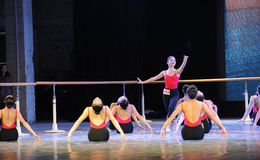 The basic skill of dance training Stock Photo
